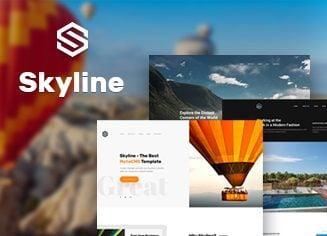 Eine eigene Homepage erstellen: MotoCMS Landeseite namens Skyline