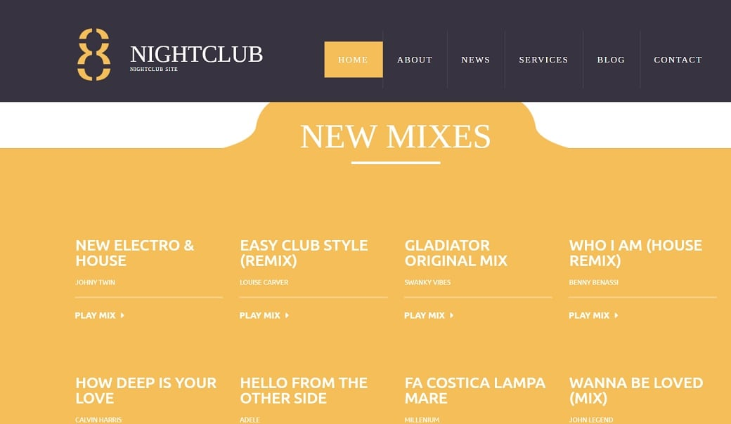 How to make a night club website - mixes