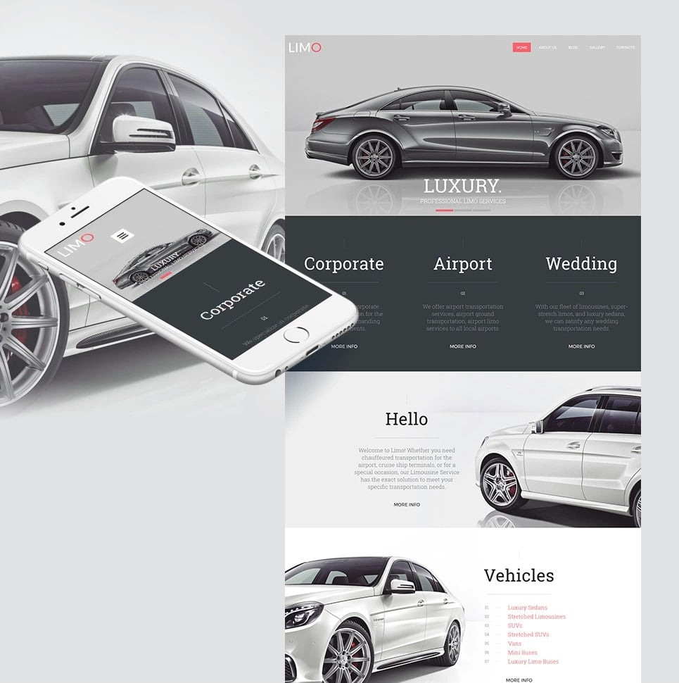 How to make a rent a car website - limo template