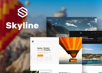 Skyline Small Business Website Giveaway by MotoCMS