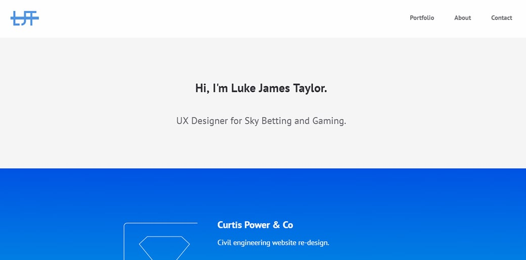 UX Designer Portfolio - Luke James Tailor