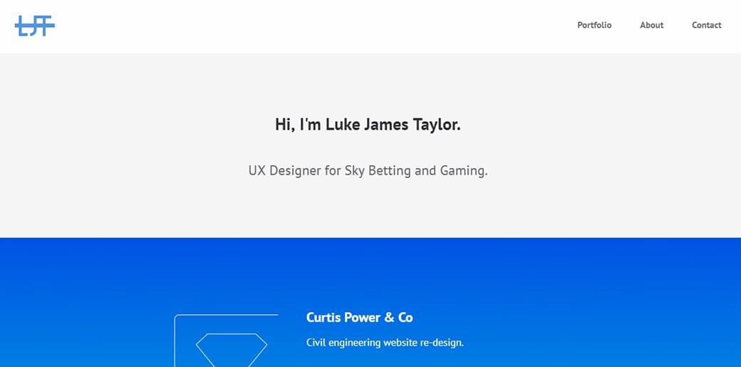 UX Designer Portfolio - Luke James Tailor