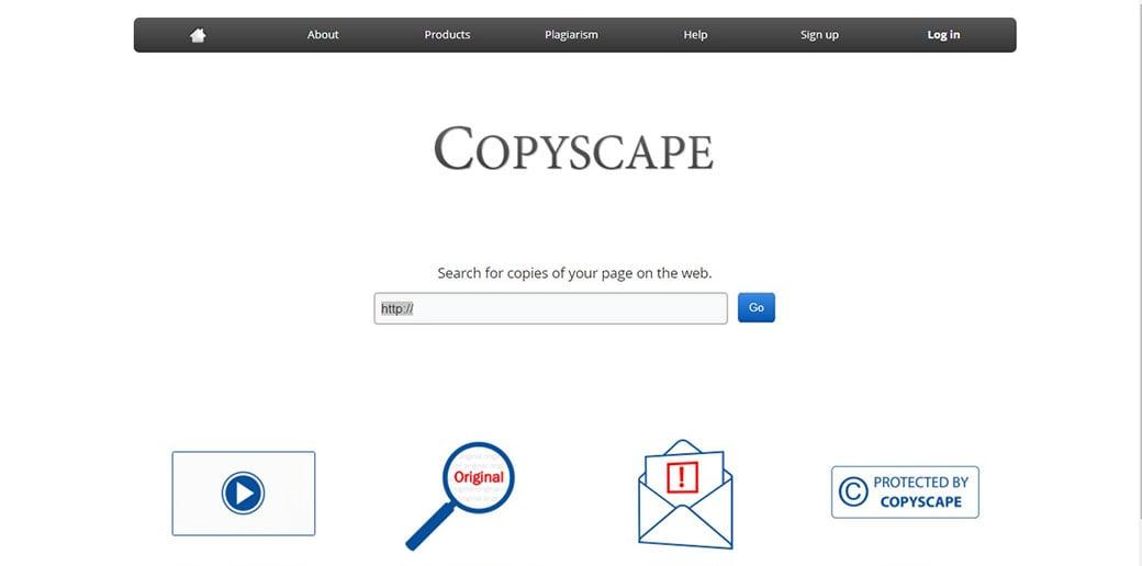 Copyscape online tool