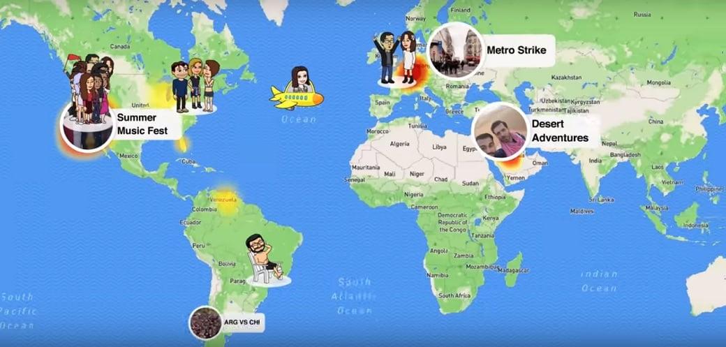 snapchat map tech news