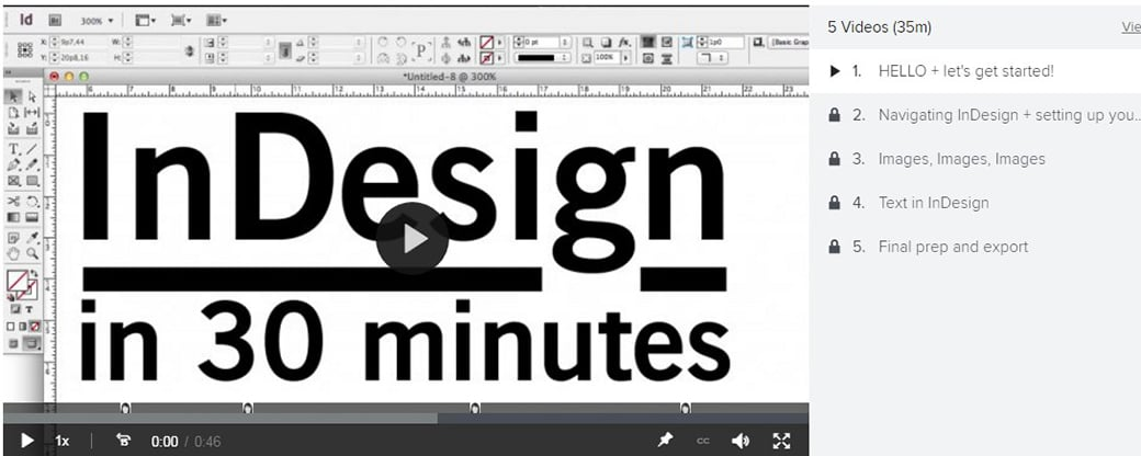 indesign free online courses