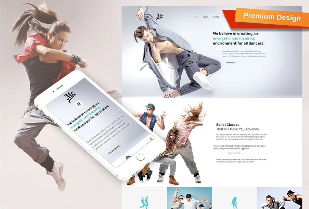 dance studio sports websites