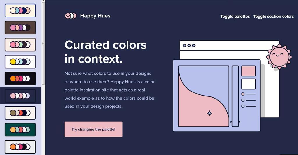 happy hues palettengenerator