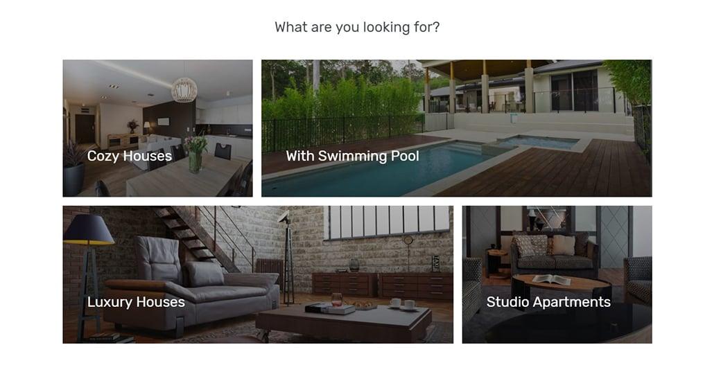 сайт агентства недвижимости-навигация