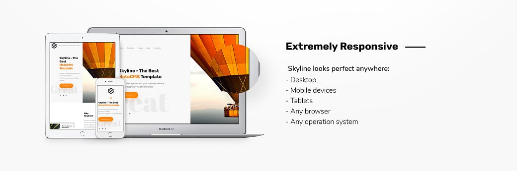 Skyline Business Website Design - responsive design