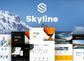 Создаем идеальный сайт для бизнеса с шаблоном Skyline