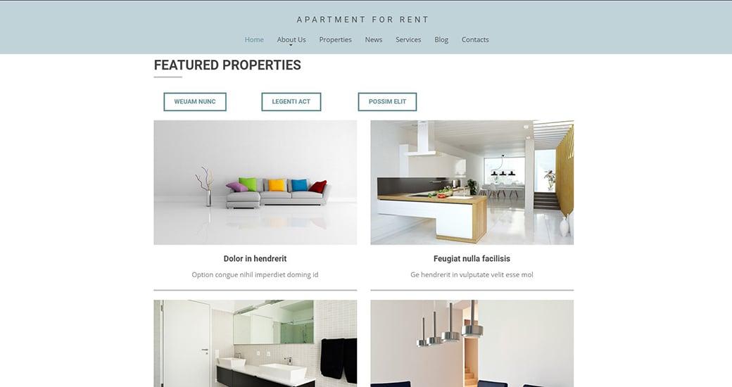real estate website structure