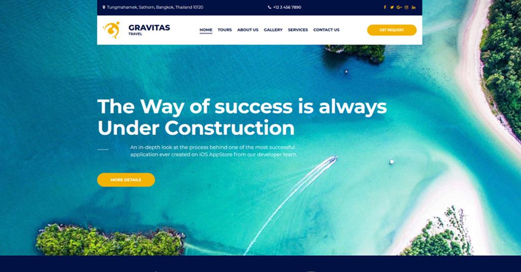 website template reisen und tourismus