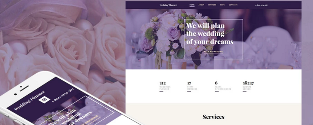 wedding planner responsive motocms template