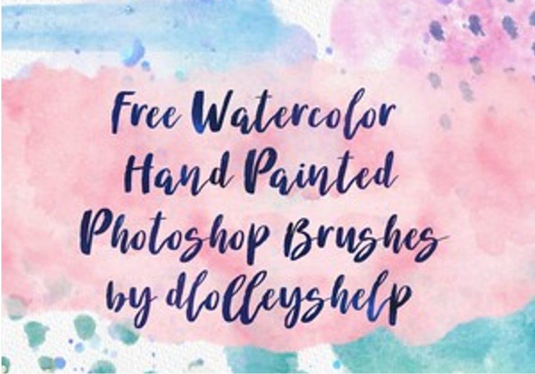 free photoshop brushes watercolor
