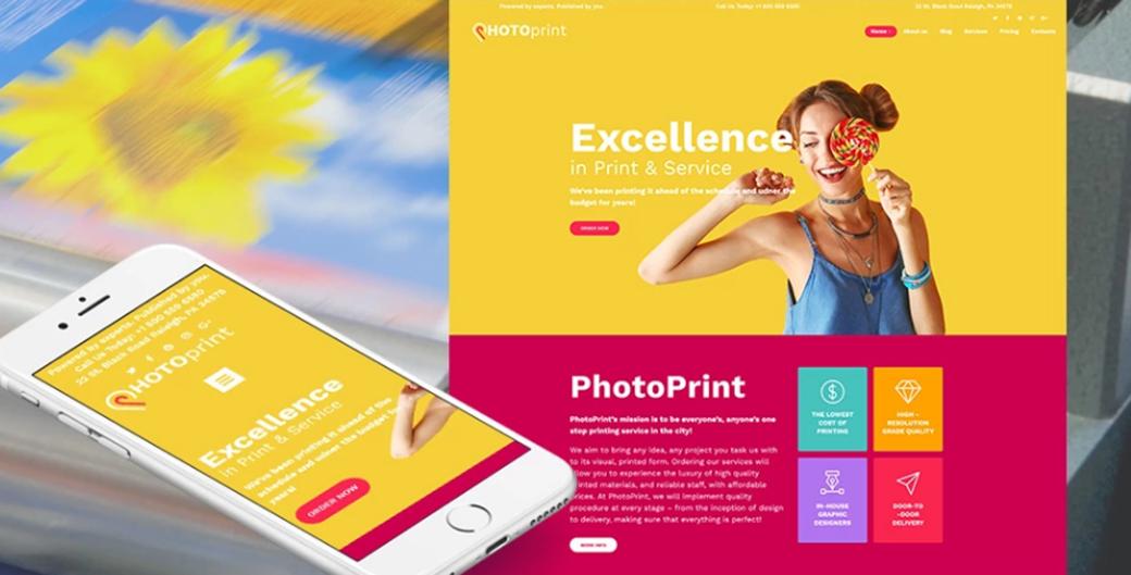 photo print template