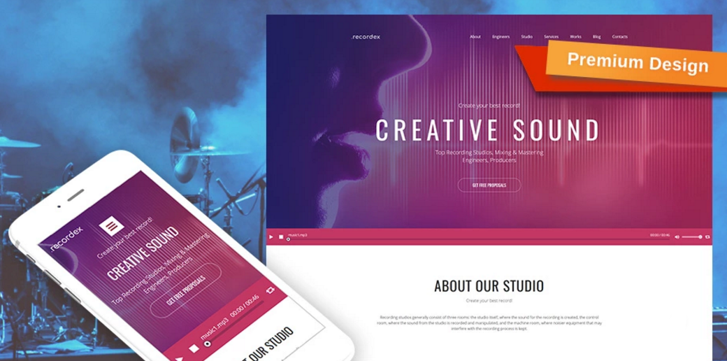 creative sound website templaet img