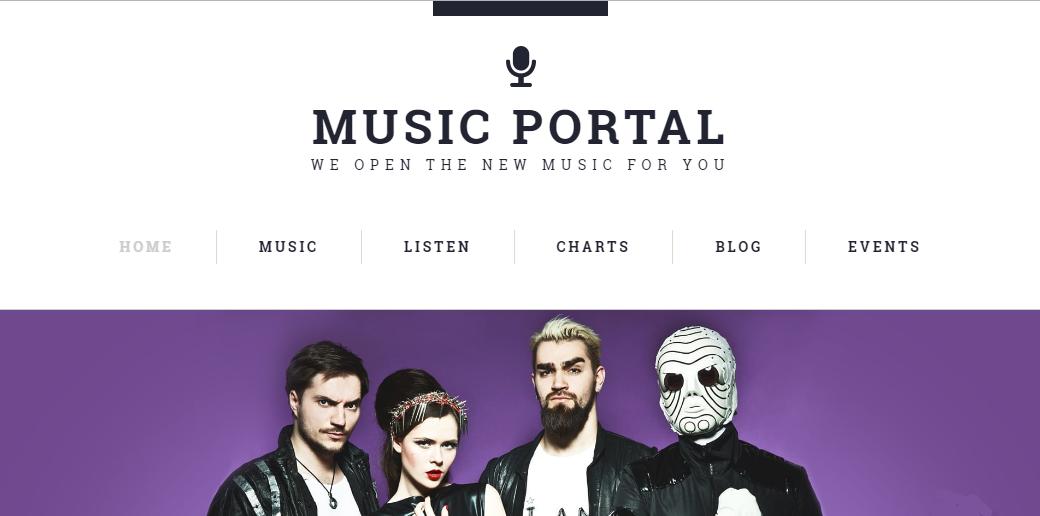 music portal theme image
