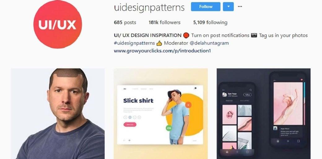 ui design patterns instagram