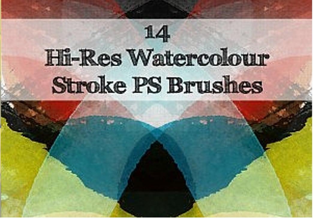 watercolour strokes