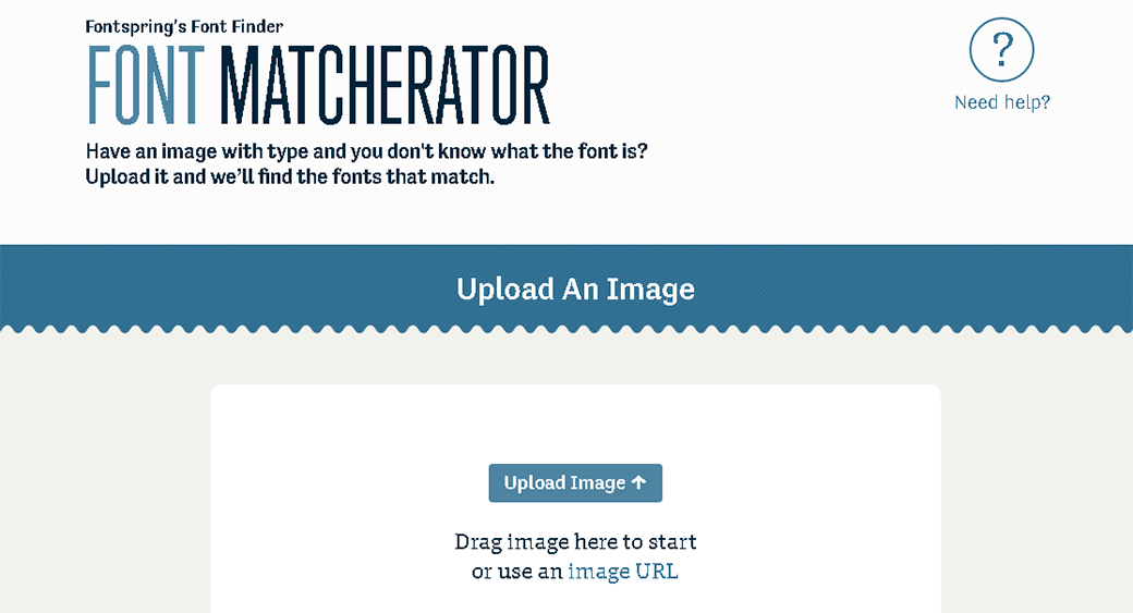 поиск шрифта по картинке Matcherator