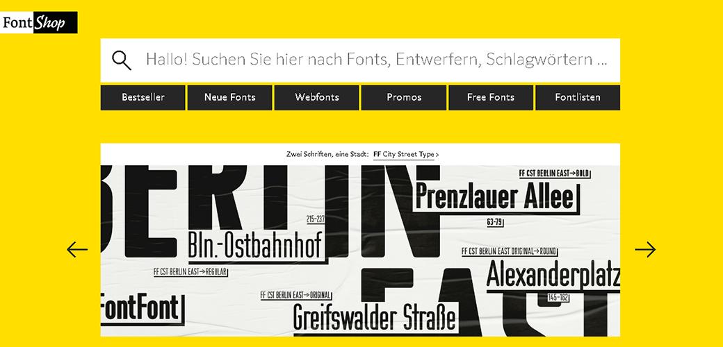 поиск шрифта по картинке Fontshop