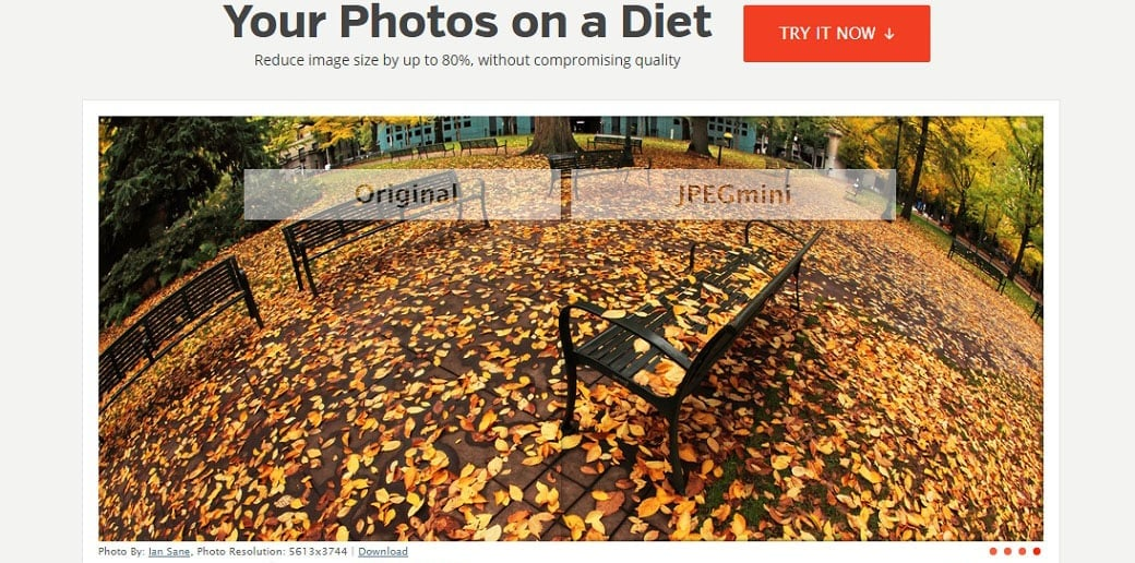 JPEGmini free online image optimizer