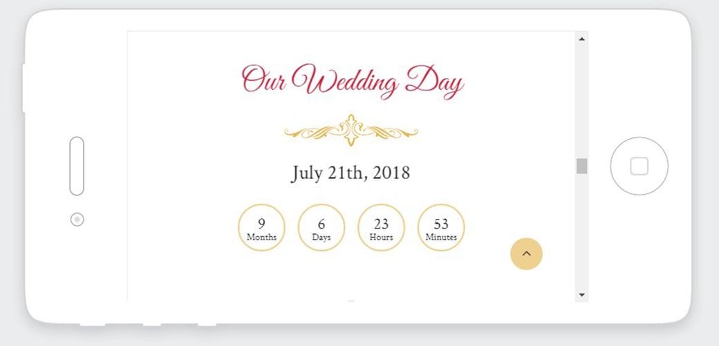 адаптивный свадебный сайт