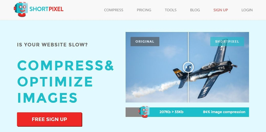 Shortpixel free online image optimizer