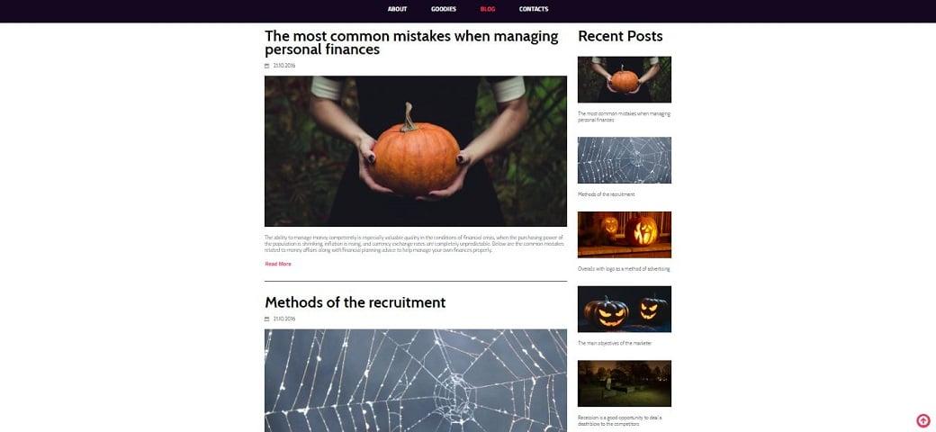Создайте блог на Хэллоуин