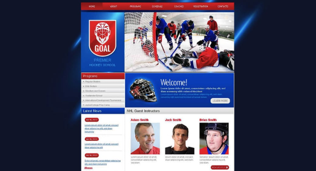 Hockey School Website Template