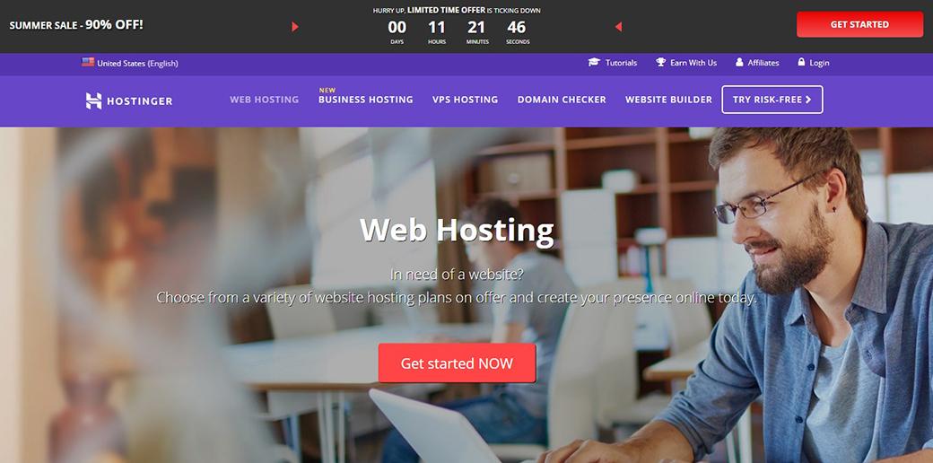 hostinger web hosting image