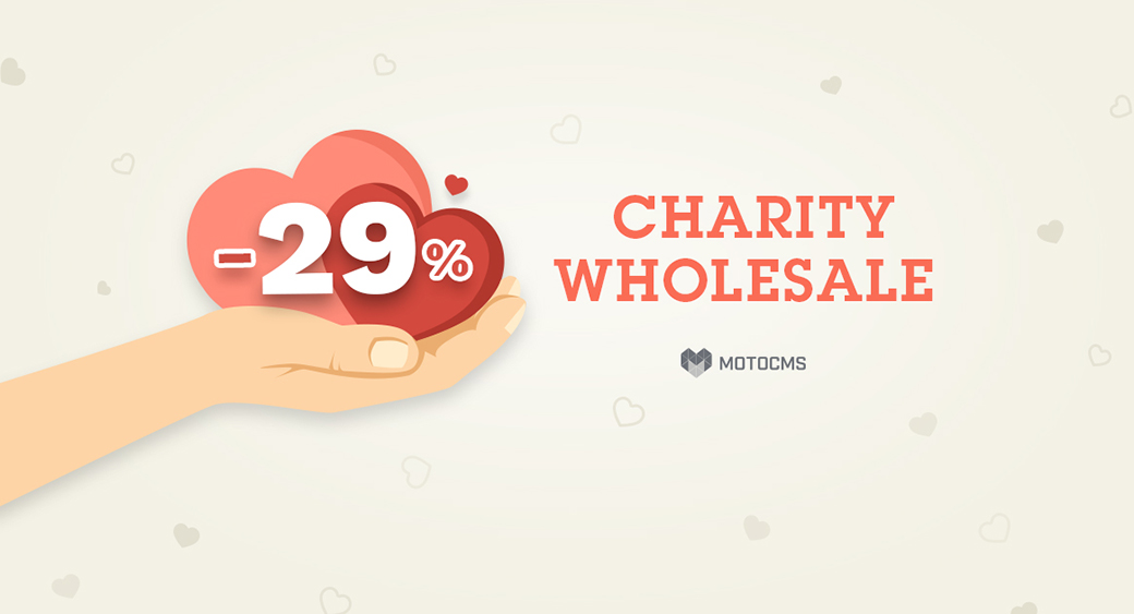 MotoCMS Charity sale image