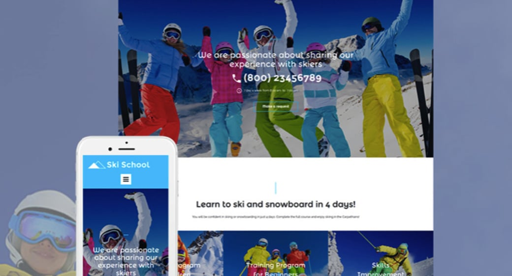 Skiing Website Design