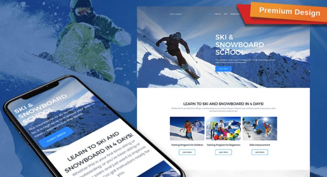 Sport MotoCMS 3 Responsive Website Template