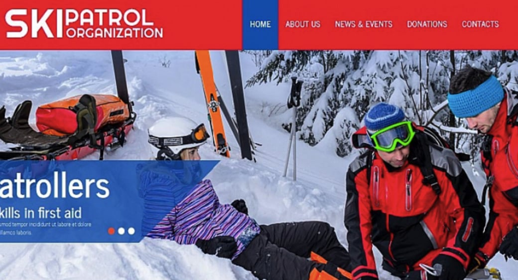 Winter Sports Website Template