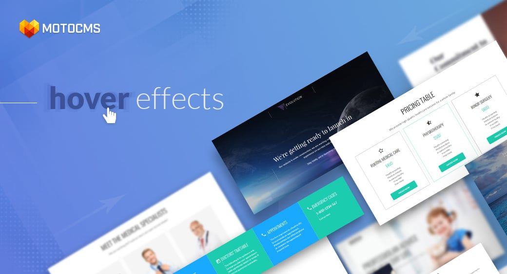 CSS image hover effects main image