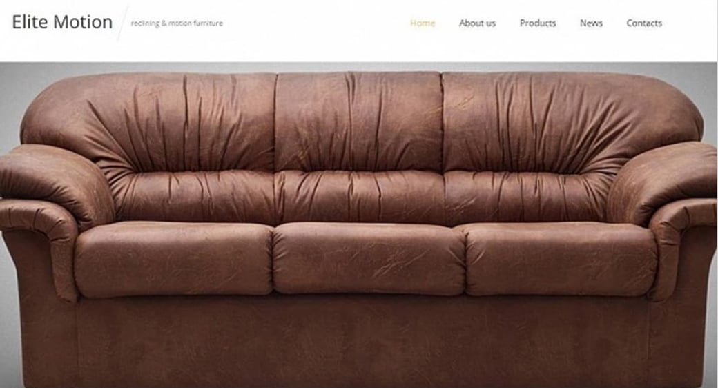 Furniture Store Web Template with Slider
