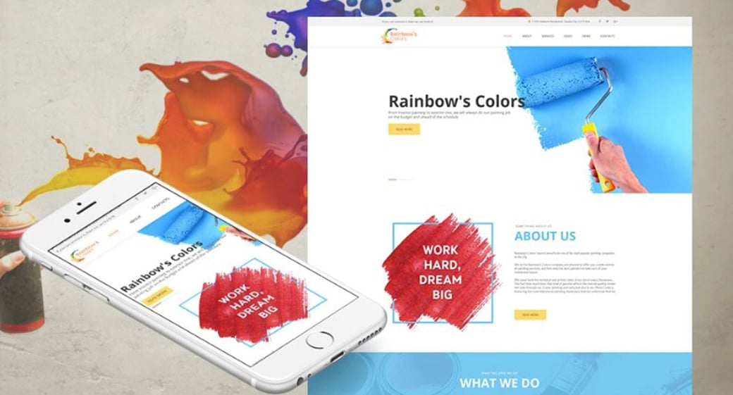 Website Template for Painting Company