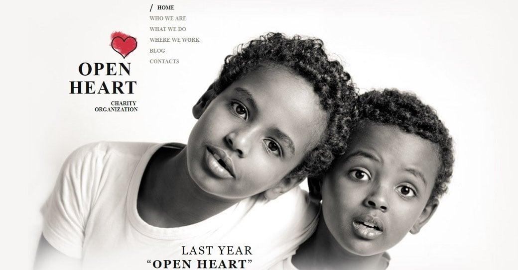 Homepage-Vorlage für Wohltätigkeitsfonds