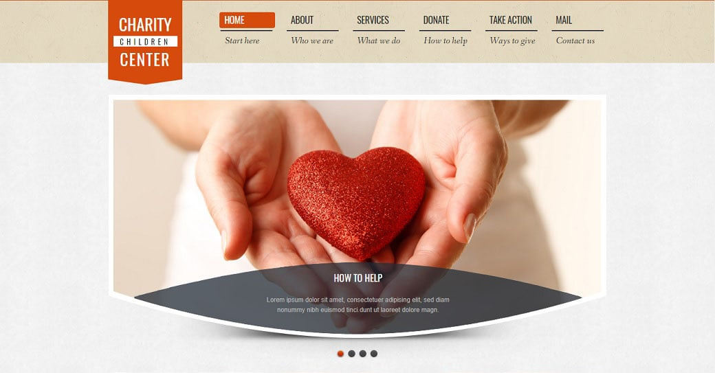 Charity Website Template Created in Pastel Tones