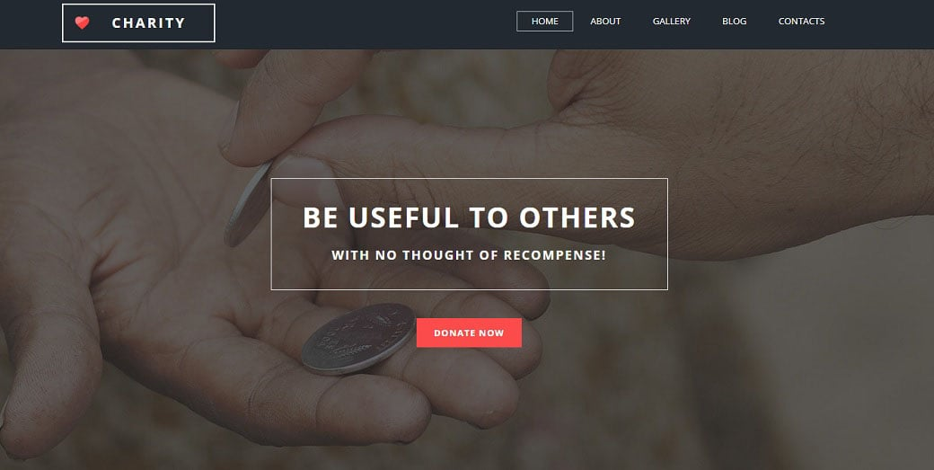 Fund for Charities Responsive Homepage-Vorlage
