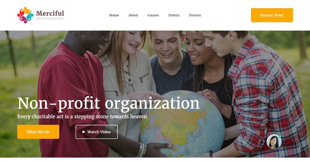 Merciful Free NGO Template  Ngo Templates