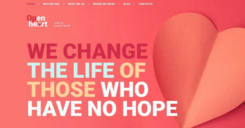 Open Heart Responsive Homepage-Vorlage