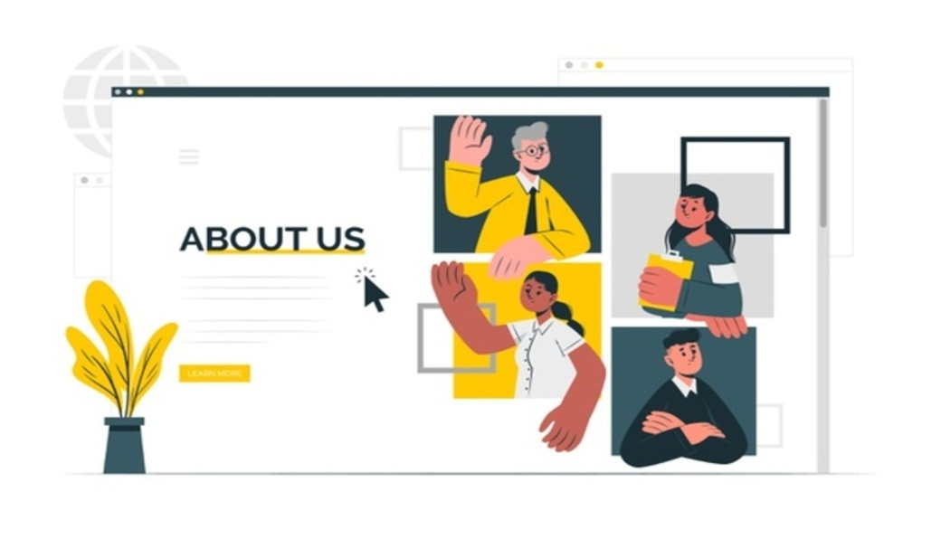 about us page design and content