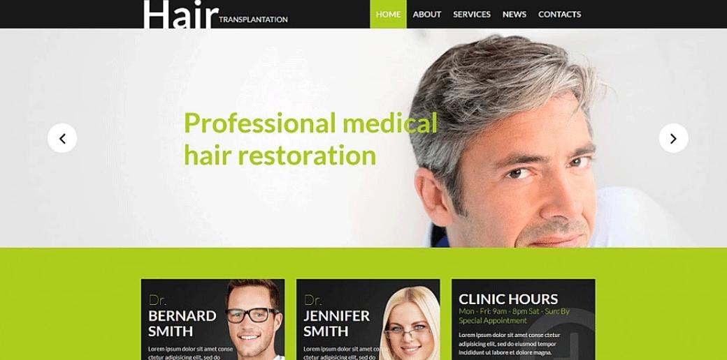 Hair Regrowth Website Template