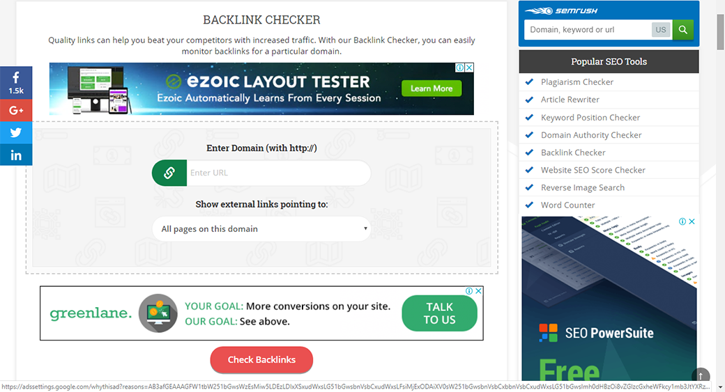 small seo tools backlink checker