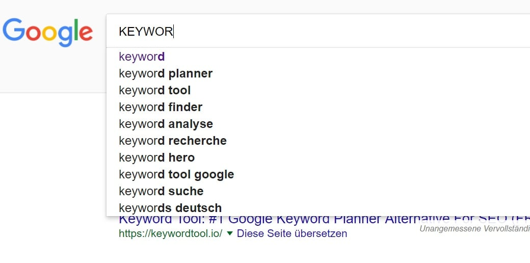static vs dynamic website keywords