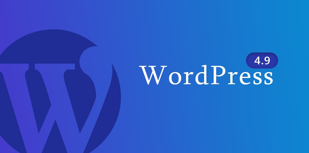 WordPress 4.9 web development trend 2018