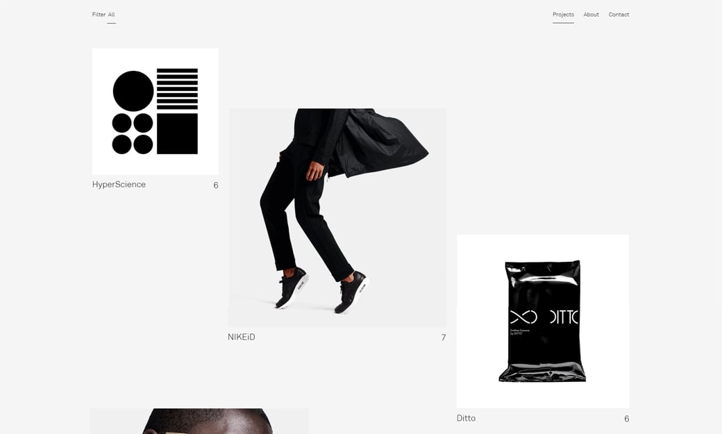 Broken Grid Layout Web Design Trend 2018