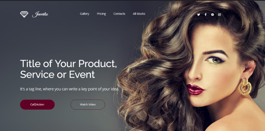Jewelry drag and drop landing page builder image